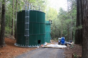 Two water storage tanks at a California camp are giving local salmon populations a fighting chance.