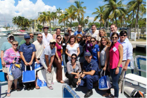 This group of more than 20 leaders participated in a Day on the Bay.