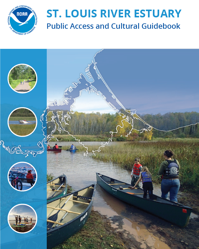 Visitors can use this guide to explore the St. Louis River Estuary and surrounding area, and gain a better understanding of where various recreational activities are located. The guide also offers a brief history of the region's Anishinaabeg population and culturally significant sites.