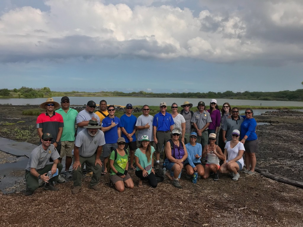 The Hui Loko members are actively restoring and conserving the fishponds and anchialine pools of West Hawaii. Photo Credit: The Nature Conservancy.
